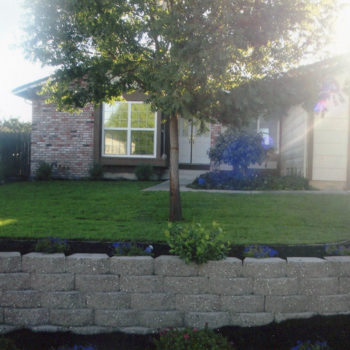Antioch Front Yard Retaining Wall After