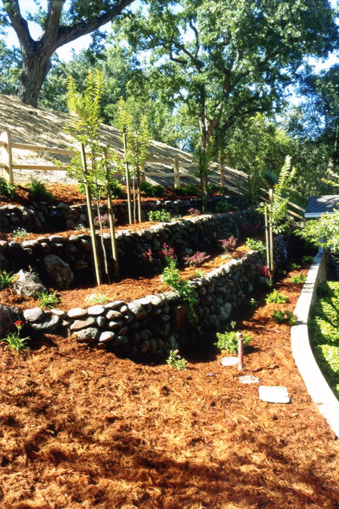 Lafayette Stone Retaining Walls After